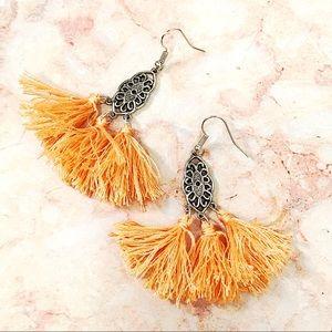 Jewelry - BOGO💫Silver Plated Boho Tangerine Tassels
